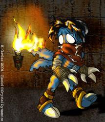 Teeny Flaming Raziel by yaddie