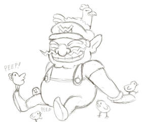 Wario Get's All The Chicks by arcanineryu