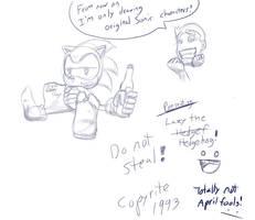 Original Sonic Character 4 realz by Gx3RComics