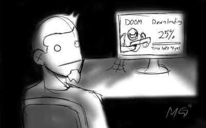 Doom4- the waiting by Gx3RComics