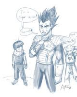Vegeta is a Super Nerd by Gx3RComics