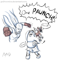 One Punch Man and ToeJam and Earl. by Gx3RComics
