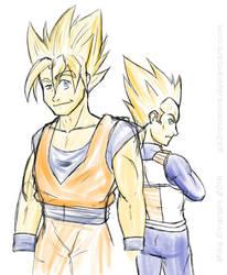 Goku and Vegeta are SSJ 'pals' by Gx3RComics