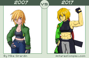 Neige 2007vs2017 by Gx3RComics