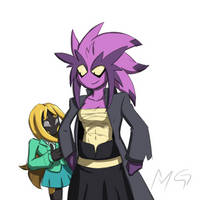 Violet and Amber by Gx3RComics