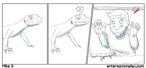 Love my gecko by Gx3RComics