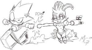 Sonic n Bunnie, buds for life. by Gx3RComics