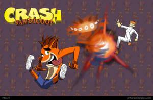 Platformer RUN: Crash Bandicoot ki- er spins butt. by Gx3RComics