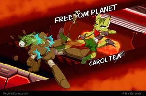 Carol Tea kicking ro-butt. by Gx3RComics
