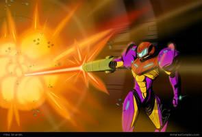 Samus Gravity Suit Metroid fanart by Gx3RComics