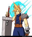 Cloud Strife Final Fantasy VII fanart (updated) by Gx3RComics