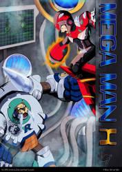 Mega Man X4 X vs Frost Walrus FIRE EDITION by Gx3RComics