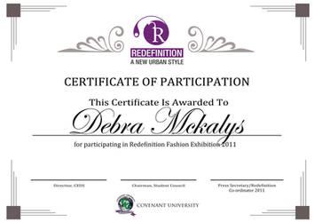 Redefinition Certificate by sjkeri