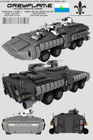 Greyflame Armored Personnel Carrier by Stealthflanker