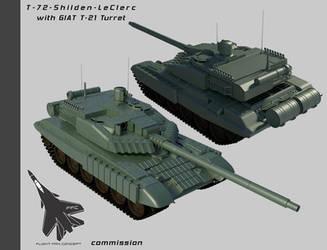 T-72-T-21 Shilden Leclerc by Stealthflanker