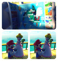 Sun Drenched Tropical Paradise of Isle Delfino by PrincessPeachiie
