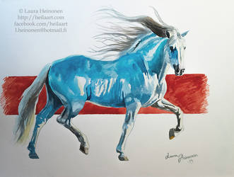 Blue Andalusian by Hei-La