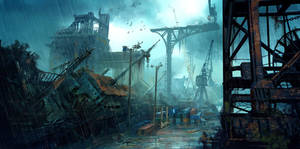 Abandoned Harbor by VoltaCrew