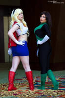 Supergirl and Green Lantern by alyonheart
