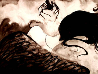spiders crawling up your back by hollyheadless