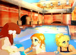 Afternoon in the pool by Kika777