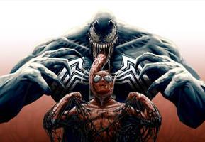 Spider-Man vs. Venom by punktx30
