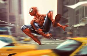 Spider-Man through Manhattan by punktx30