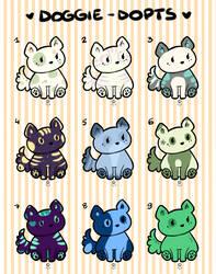 Doggie Adoptables Sheet 1 by ElenaOtaku