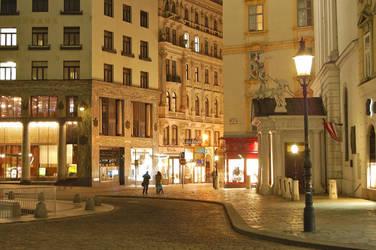 Downtown Vienna at Night by jakobdenk