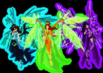 Insignix Fairies: Trio by SorceressIgnis