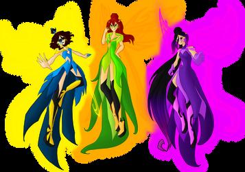 Libertix Fairies by SorceressIgnis