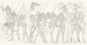 X-Men Team by BrianVander