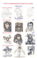 Wizard World Commission Price Guide by BrianVander