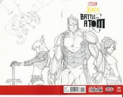 Xmen Sketch Cover Colossus Kitty Pryde Illyana by BrianVander