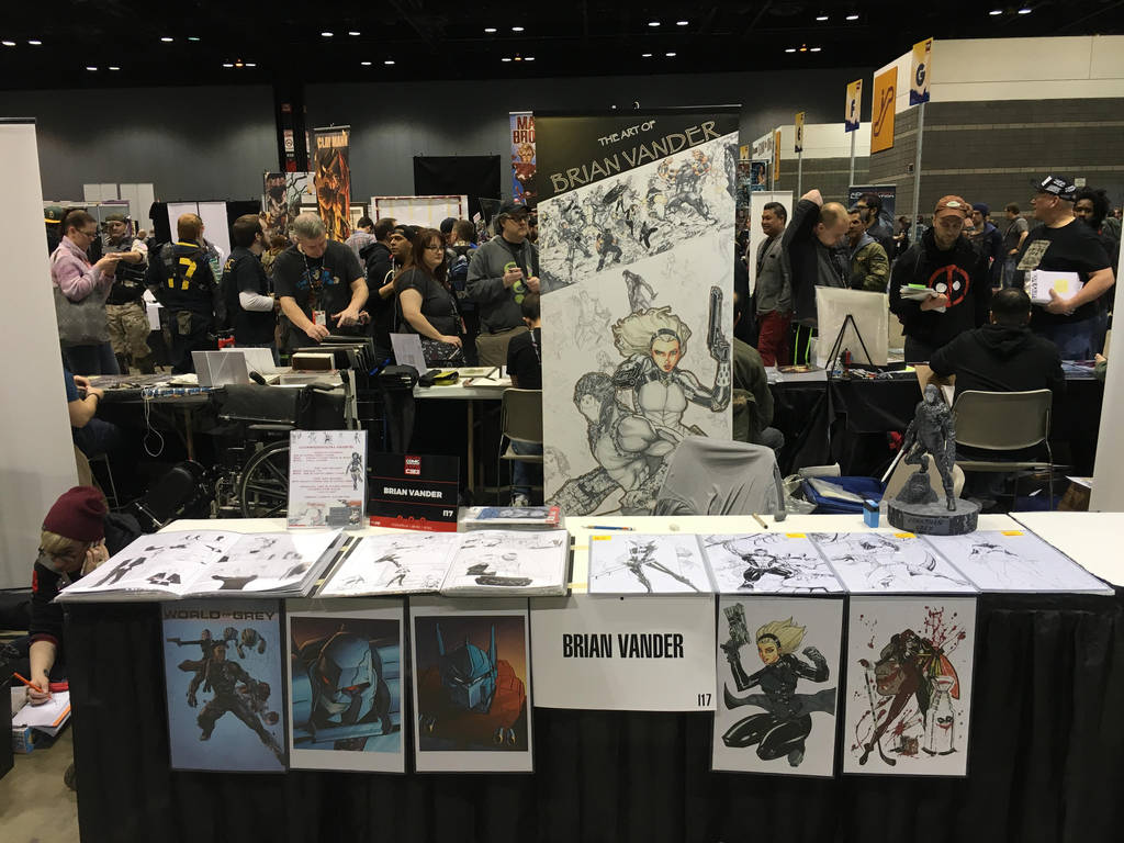 Table set up for C2E2 2016 by BrianVander