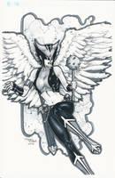 Hawkgirl C2E2 Commission by BrianVander