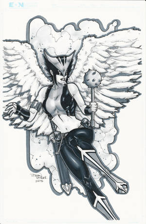 Hawkgirl C2E2 Commission by BrianVander