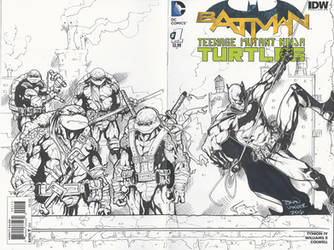 TMNT Batman Sketch Cover by BrianVander