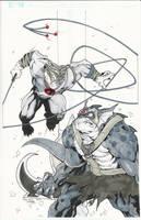 Heroes Con Commission Tygra vs Slythe by BrianVander