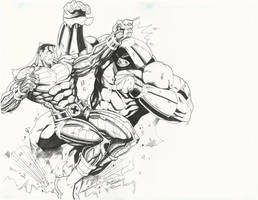Colossus vs Juggernaut by BrianVander