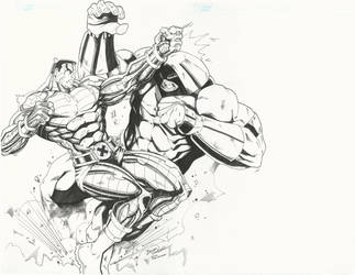Colossus vs Juggernaut by BrianVander