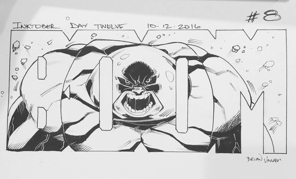 Inktober 2016 Day 12 X-Men story panel 8 by BrianVander