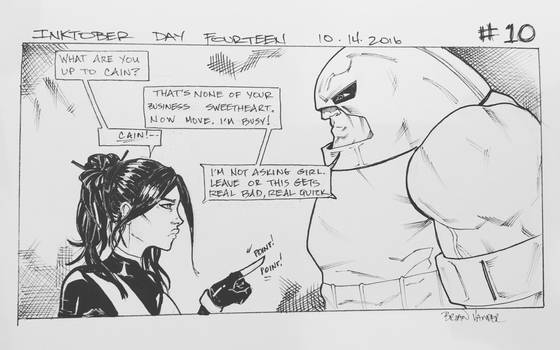 Inktober 2016 Day 14 X-Men story panel 10 by BrianVander