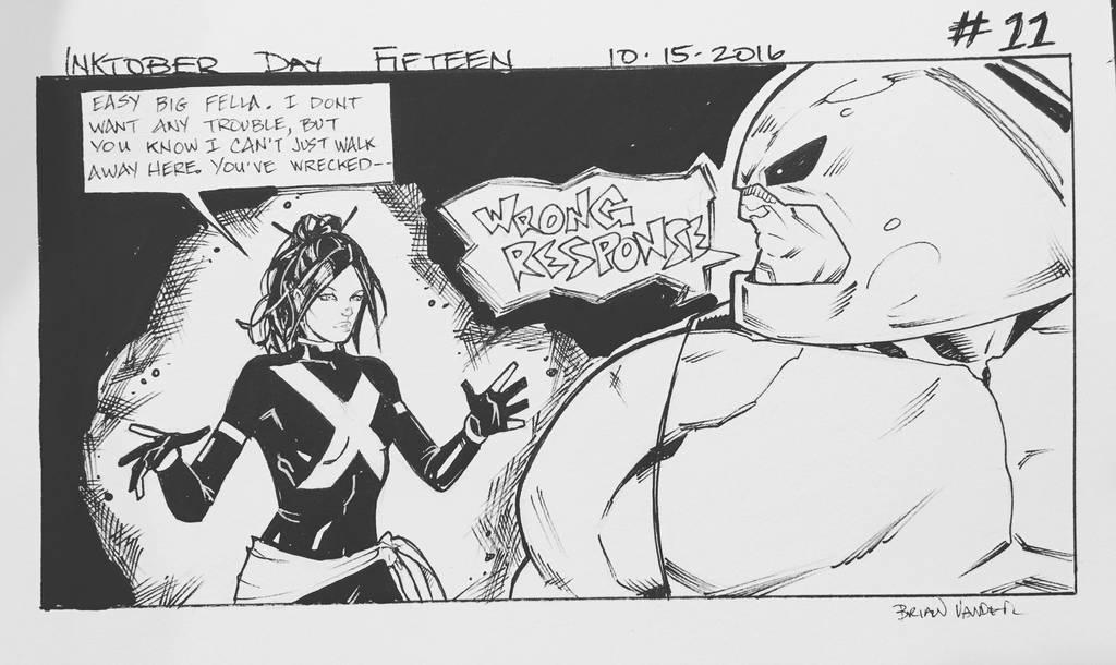 Inktober 2016 Day 15 X-Men story panel 11 by BrianVander