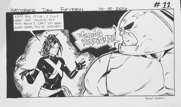 Inktober 2016 Day 15 X-Men story panel 11 by BrianVander