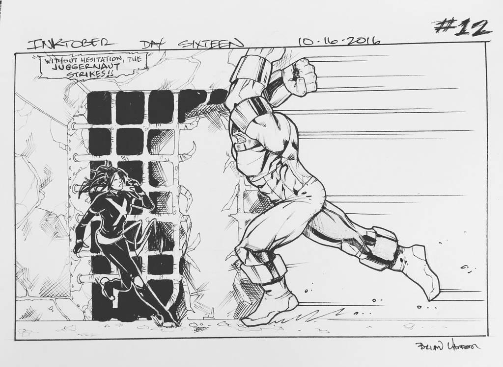 Inktober 2016 Day 16 X-Men story panel 12 by BrianVander