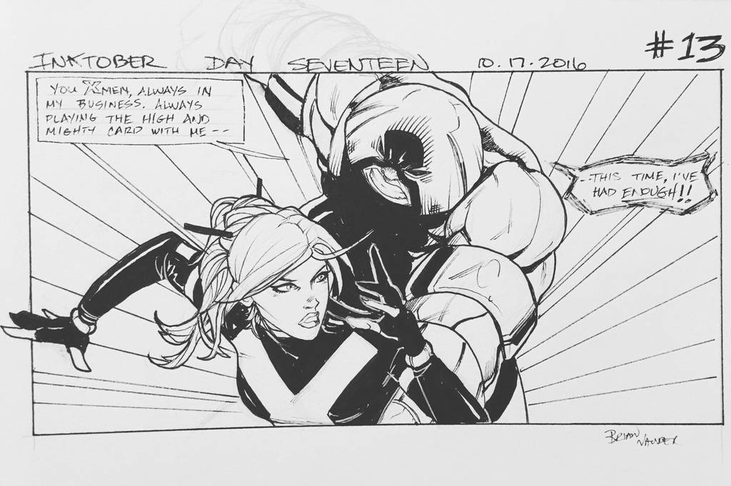 Inktober 2016 Day 17 X-Men story panel 13 by BrianVander