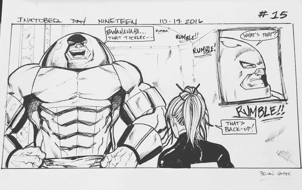 Inktober 2016 Day 19 X-Men story panel 15 by BrianVander