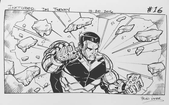 Inktober 2016 Day 20 X-Men story panel 16 by BrianVander