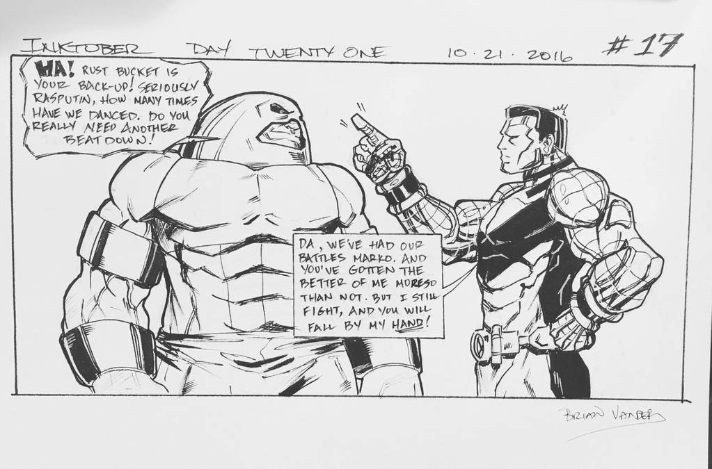 Inktober 2016 Day 21 X-Men story panel 17 by BrianVander